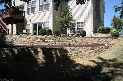 custom natural stone wall