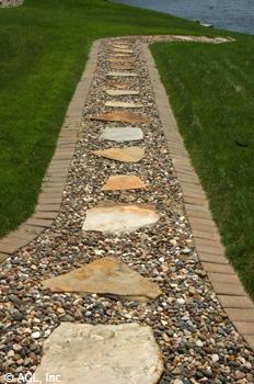 Flagstone Patio Over Concrete